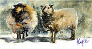 Sheep in Winter One